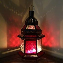 Dar Fes Lamp Small Red