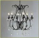 Cage Type Roof Mount Crystal Antique Candle Hanging Chandelier, For Home Decoration