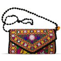 Cotton Handmade Embroidery Rajasthani Gujarati Pink Sling/clutch Bag For Women