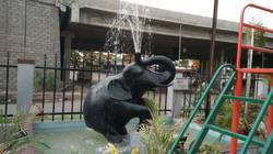 Black Elephant Fountain Statue