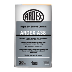 Cement Ardex A-38 Rapid Set Cementitious Screed, Packaging Size: 20 Kg, for Construction