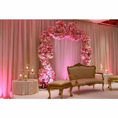 Wedding Stage Flower Decoration: Floral Wedding Stage Decoration Service In Banganga