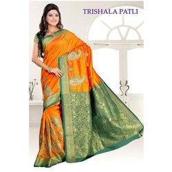 Fancy Embroidered Silk Sarees