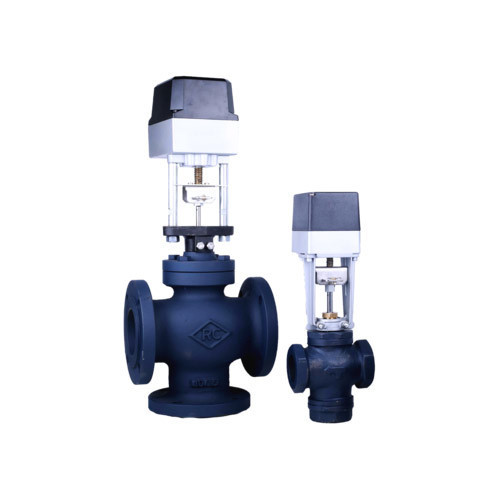 2/3 Way Mixing / Diverting Motorized Valve, Size: 65 Mm--80 Mm And ...