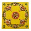 WOODEN KUNDAN ARTED DRY FRUIT BOX