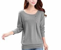 Casual Wear Full Sleeve Round Neck T Shirt for Women