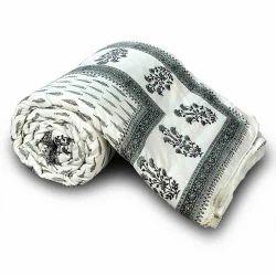 Jaipuri Floral Cotton Bed Quilt 124