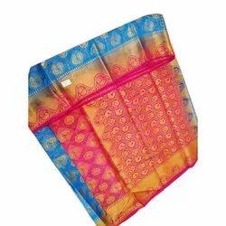 Party Wear Printed Balatan Saree with Blouse Piece