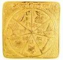 Kesar Zems Brass Sarva Karya Siddhi Yantra (Golden Plated)