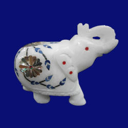 Decorative Marble Inlay Elephant