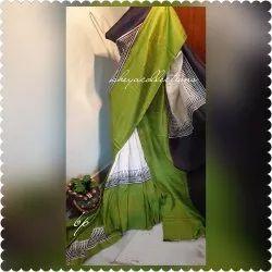 Party Wear Printed Bishnupuri Silk Saree, 5.5 m (separate blouse piece)