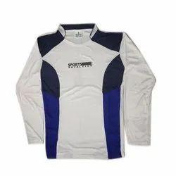 Full Sleeves Round Neck Mens Polyester Sport T Shirt