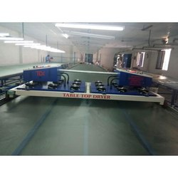 Garment Flat Bed Screen Printing Table with Dryer