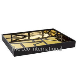 decorative Wooden Tray with moder patern