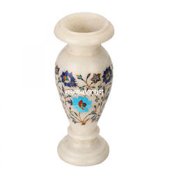 Marble Inlay Art Flower Vase
