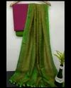 Linen Dress Material With Jute Organza Dupatta