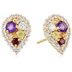 Multi Gemstone Studded Earring