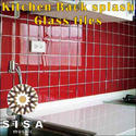 Dubond Product Kitchen Back Splash Glass Tiles, Size: Medium And Large