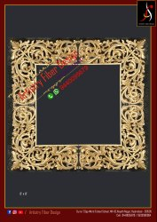 Square Golden Wedding Backdrop Fiber Photo Frame