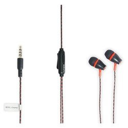 New In-ear Intex HFK-301 Wired Headset with Mic - Red, Model: 14.1 x 6.3 x 3.5 cm