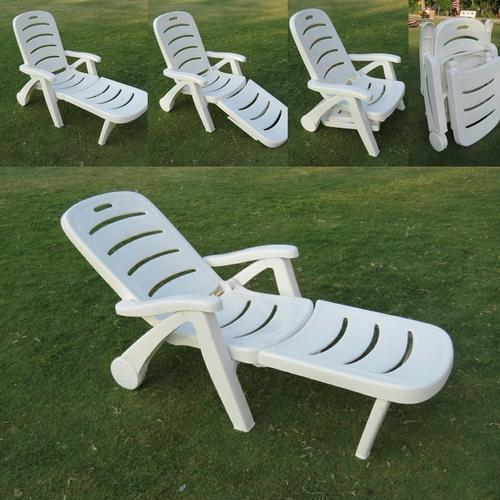 Amaze White Plastic Folding Pool Lounger Dimensions 197 X 60 75 Cm