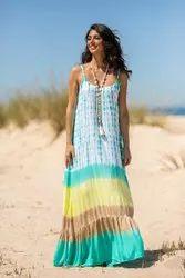 tie dye long maxi dress