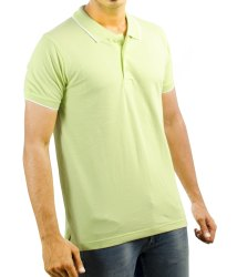 Half Sleeves Mens Polo Neck T Shirts