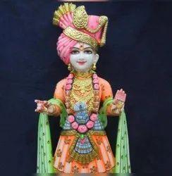 Akshar Purushottam marble statue