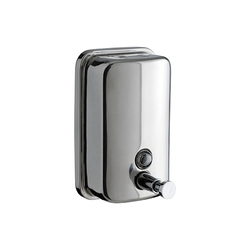 Manual Metal Wall Mounted Soap Dispensers, Dimension/size: 125 X 110 X 205 Mm