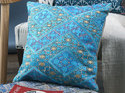 Chambray Cotton Embroidery Rug Cushion Covers