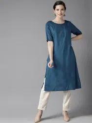 Rayon Half Sleeve Straight Kurtis, Size: S,M,L,XL,XXL