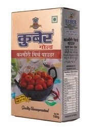 Kuber Kashmiri Mirch Powder, Packaging: 100 gm