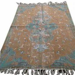 Rajasthan Art Multicolor Cotton Carpet, Size: 4x6 Square Feet