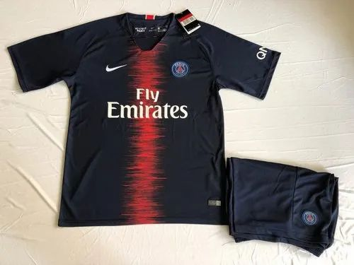 uk availability 7d423 49ee8 Full & Half Sleeves 2018/19 Psg Home Jersey