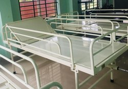 Standard Beds White Paint Coated Hospital Cot Bed, Mild Steel