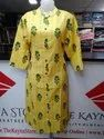 Yellow Straight Flex Cotton Kurti