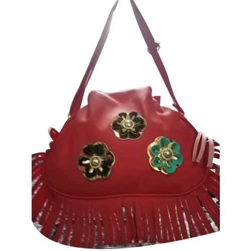 Red PU Leather Women Fashion Bags