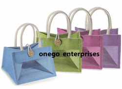 Plain Jute Gift Bags with PVC Display Window, Size: 8 x 10 x 3 inches