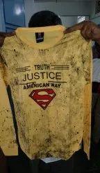 Men Printed Yellow Cotton T-Shirt