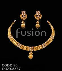 Polki Pearl Traditional Necklace Set