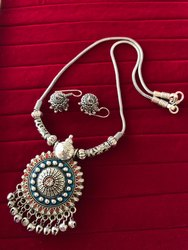Artificial Necklace with Earrings
