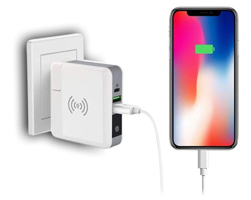 White Wireless Wall Charger Power Bank a2b5970acd