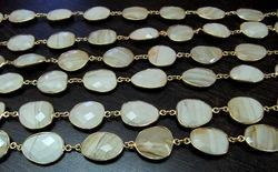 Genuine Wooden Agate Connector Chain