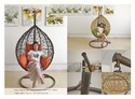 Outdoor Wicker Single Seater Swing