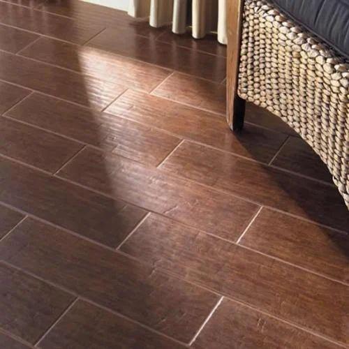 Dark Brown Wooden Floor Tiles 10 15 Mm Rs 110 Square