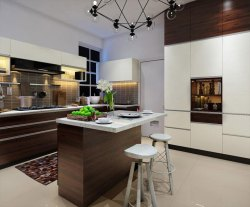 V Shaped Modular Kitchen