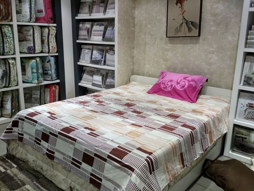 Wonderful Misstora Multi Colored Coupons Printed 100% Cotton Bed Sheets