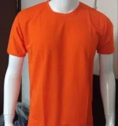 Half Sleeve Cotton PC Sinker Round Neck T Shirt