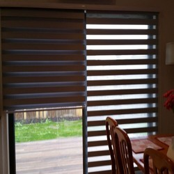 Dark Coffee PVC Zebra Blind