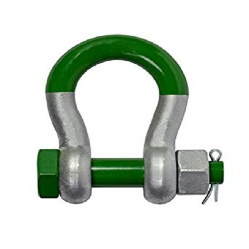 304 stainless Rope Locks U-shaped Bow shackle D shackle with screw safe bolt Pin